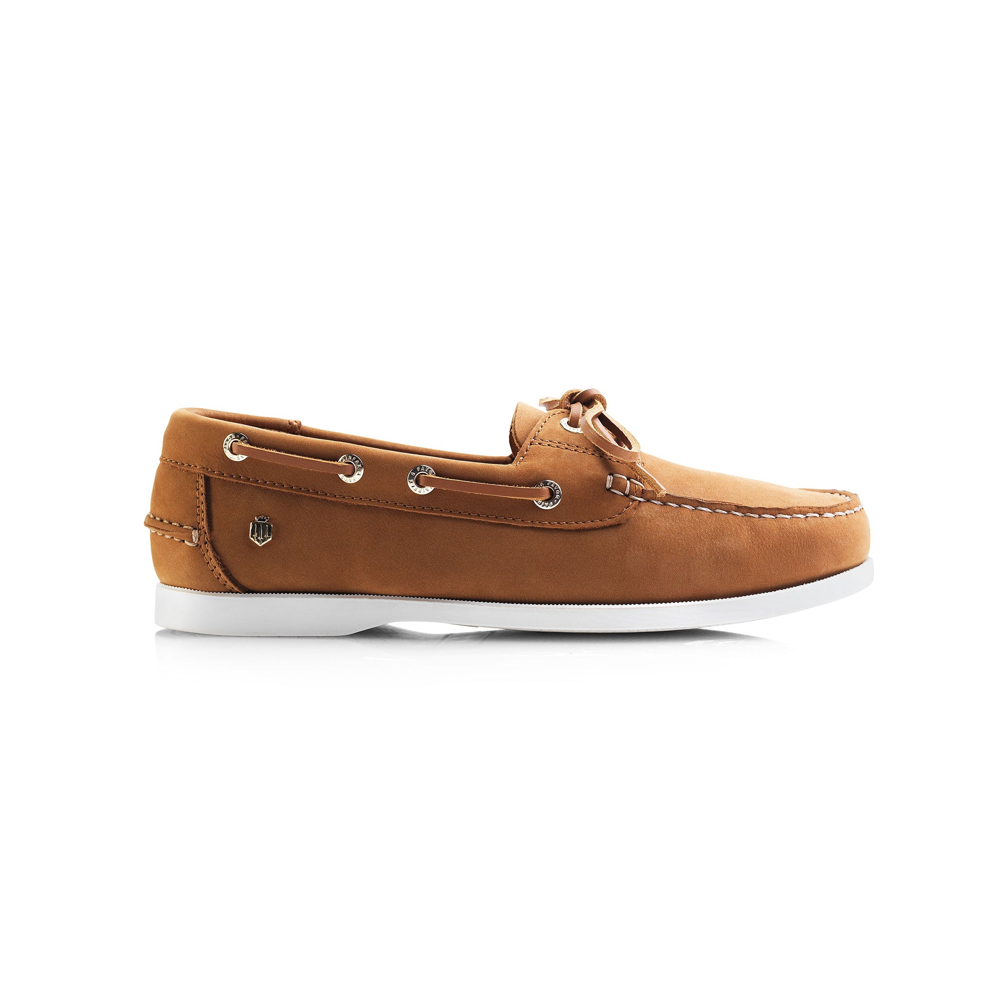 Fairfax and Favor Salcombe Deck Shoe for Ladies in Tan