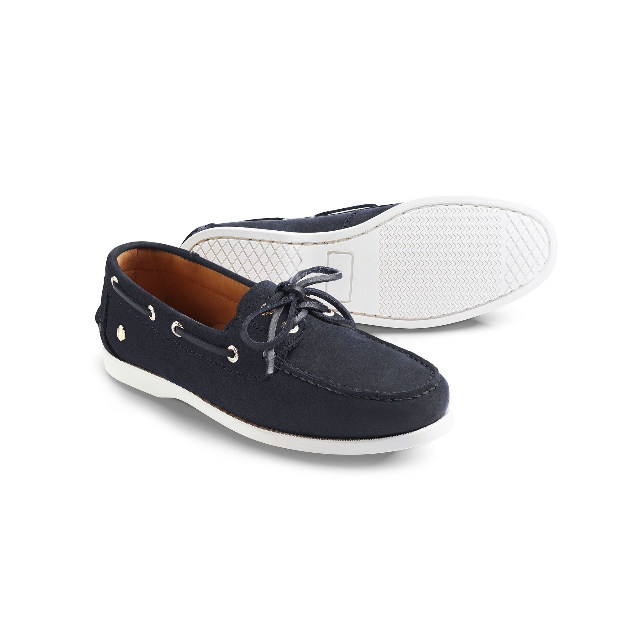 Fairfax and Favor Salcombe Deck Shoe for Ladies in Navy