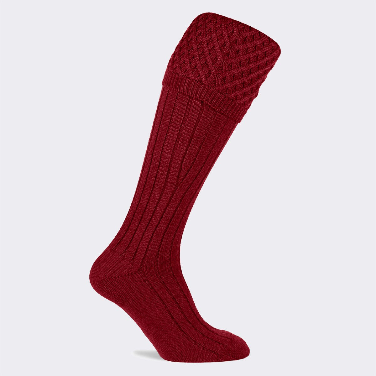 Pennine The Chelsea Shooting Sock for Men in Deep Red