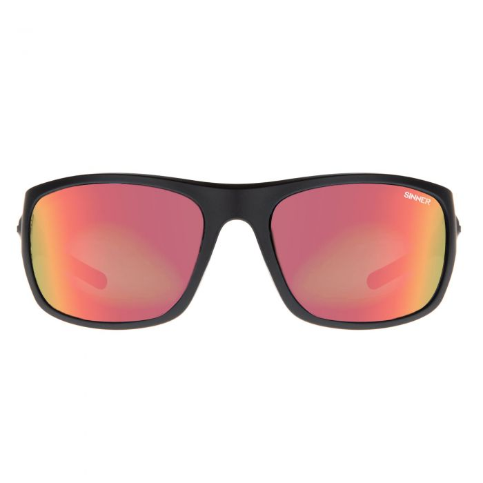 Sinner Bruno Sport Sunglasses in Matte Black / Red