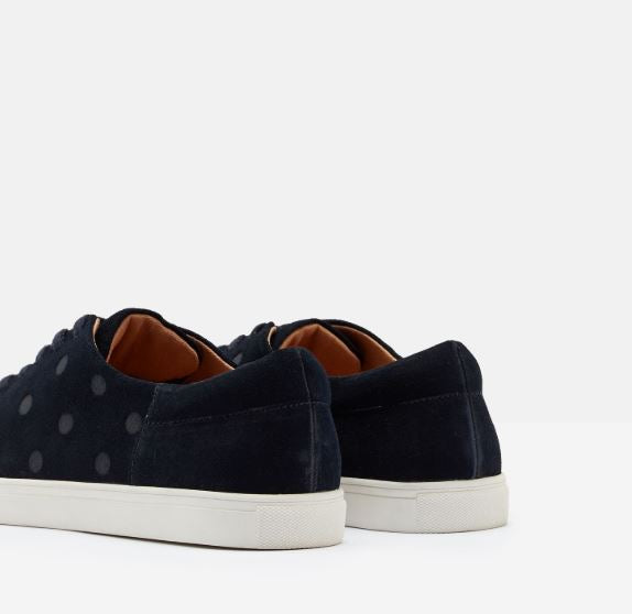 Joules Solena Luxe Trainers for Ladies in Navy Spot
