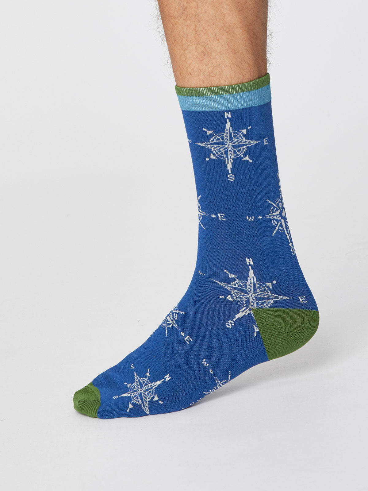 Thought Heritage Bamboo Socks for Men in Royal Blue
