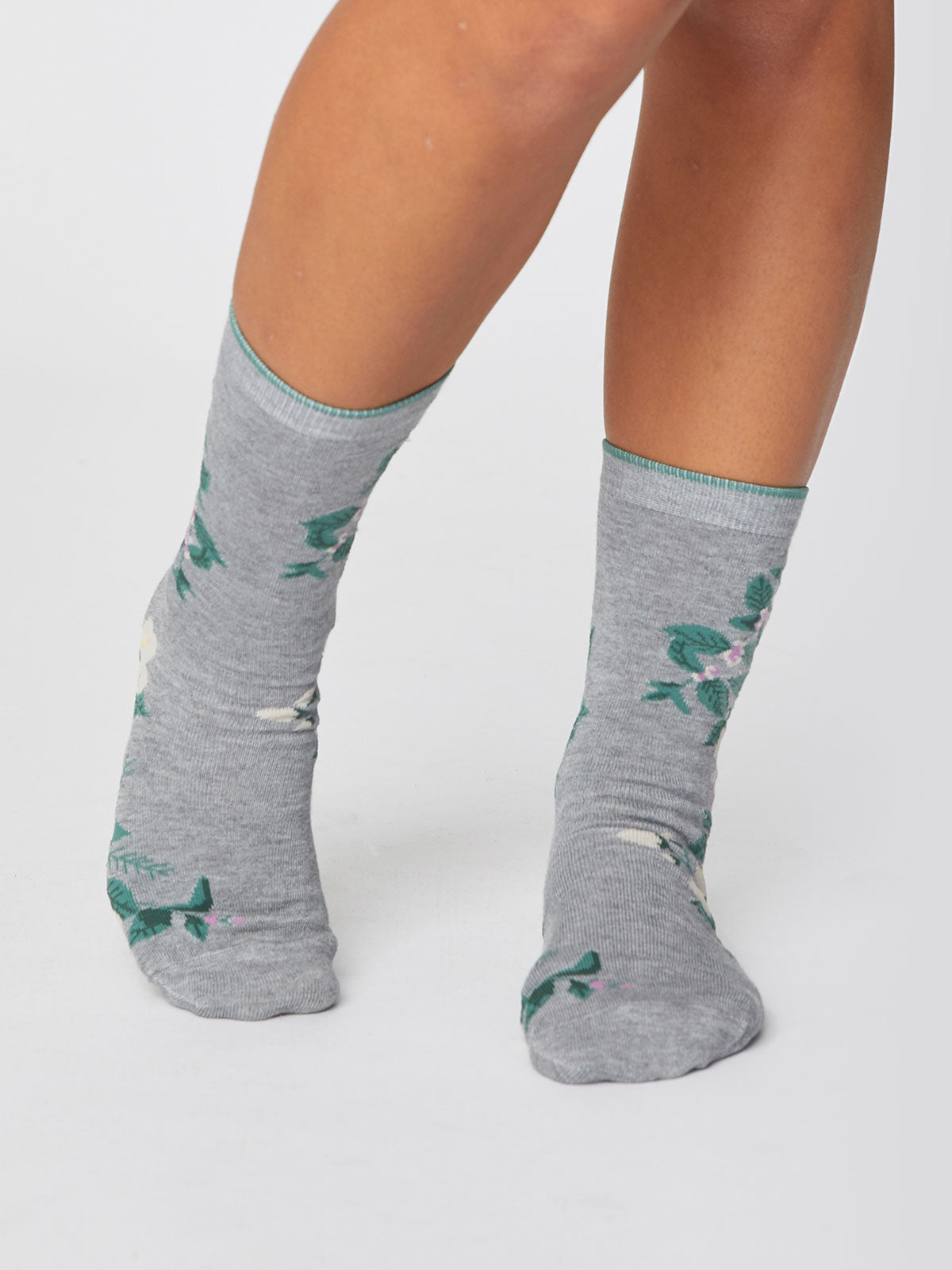 Thought Florie Bamboo Socks for Ladies in Mid Grey Marle