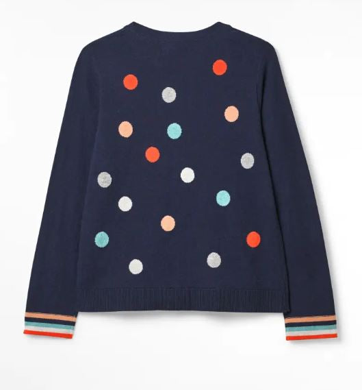 White Stuff Studio Spot Cardigan for Ladies in Navy