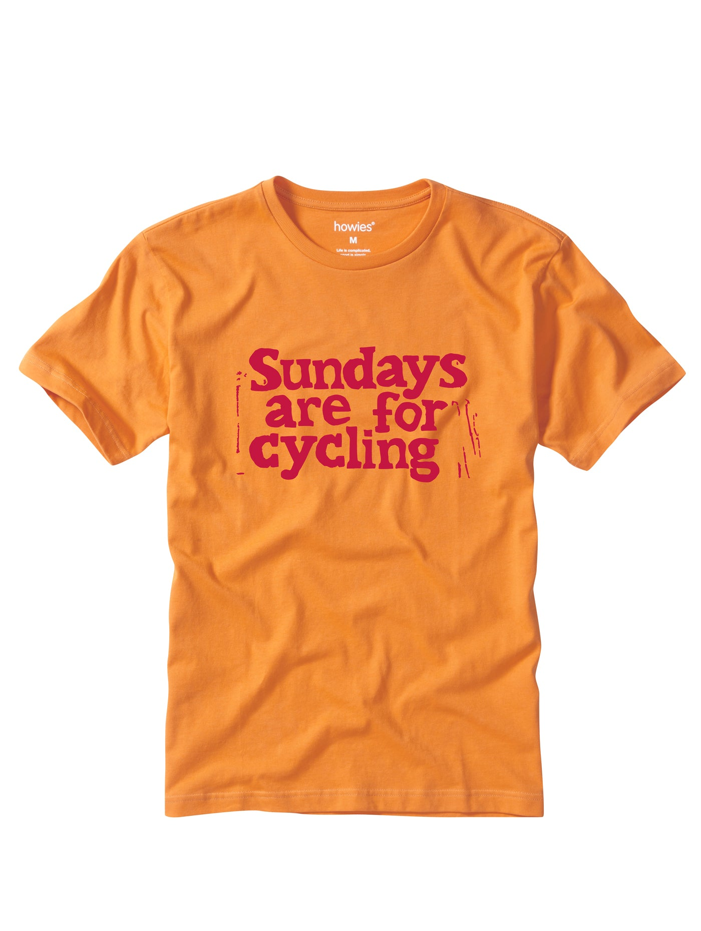 Howies Sundays Tee for Men in Caws Orange