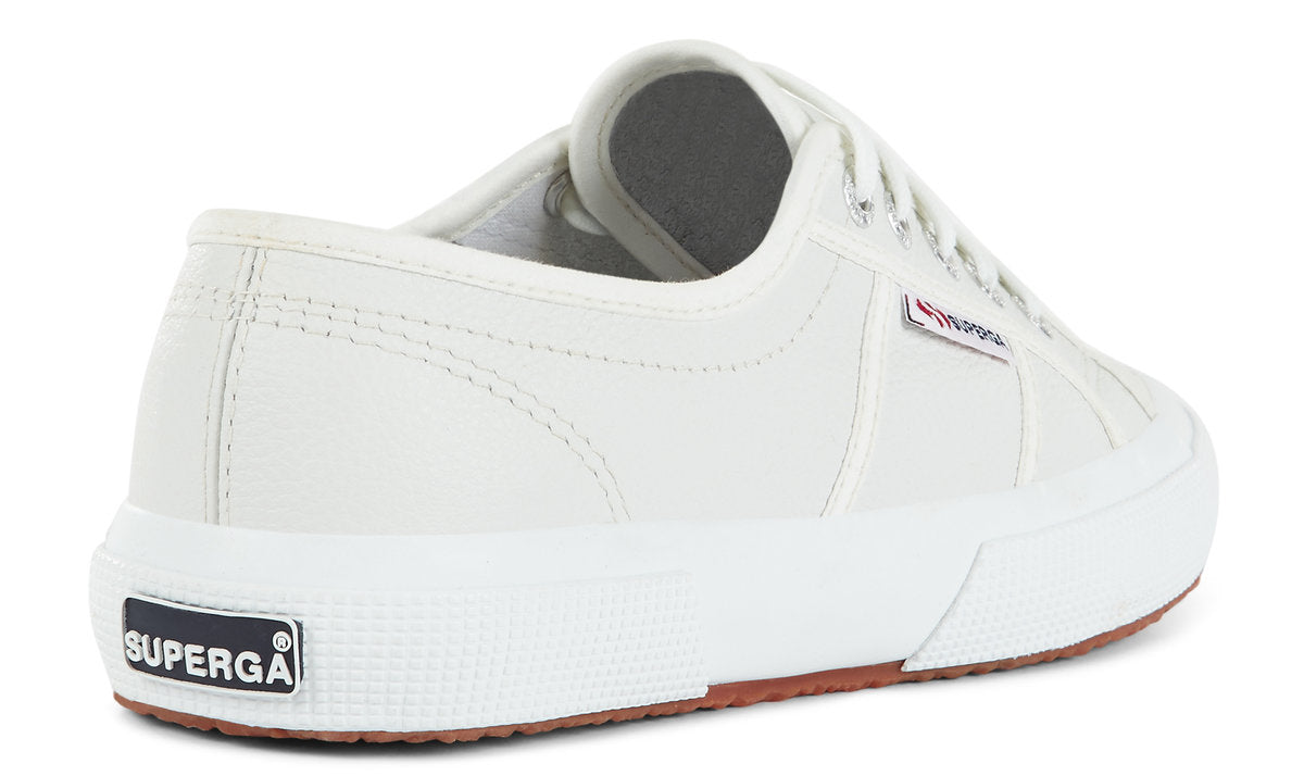 Superga EFGLU Leather Trainer for Ladies in White