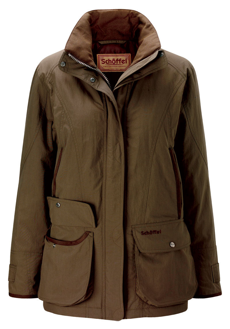 Schoffel Superlight Ghillie Coat For Ladies in Forest Green