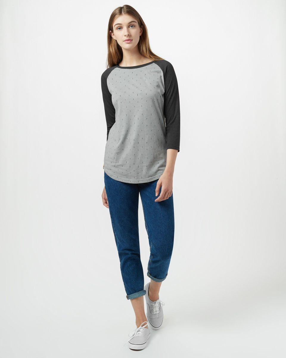 Tentree Small Tree 3.25 Top for Ladies in Hi Rise Grey