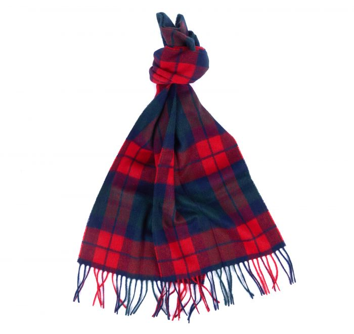 Barbour New Check Scarf in Bright Red