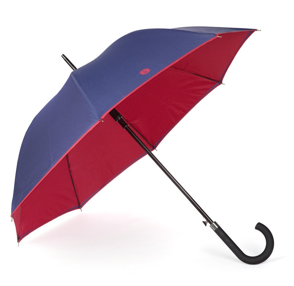 Banvard and James Walker Umbrella in Navy / Berry