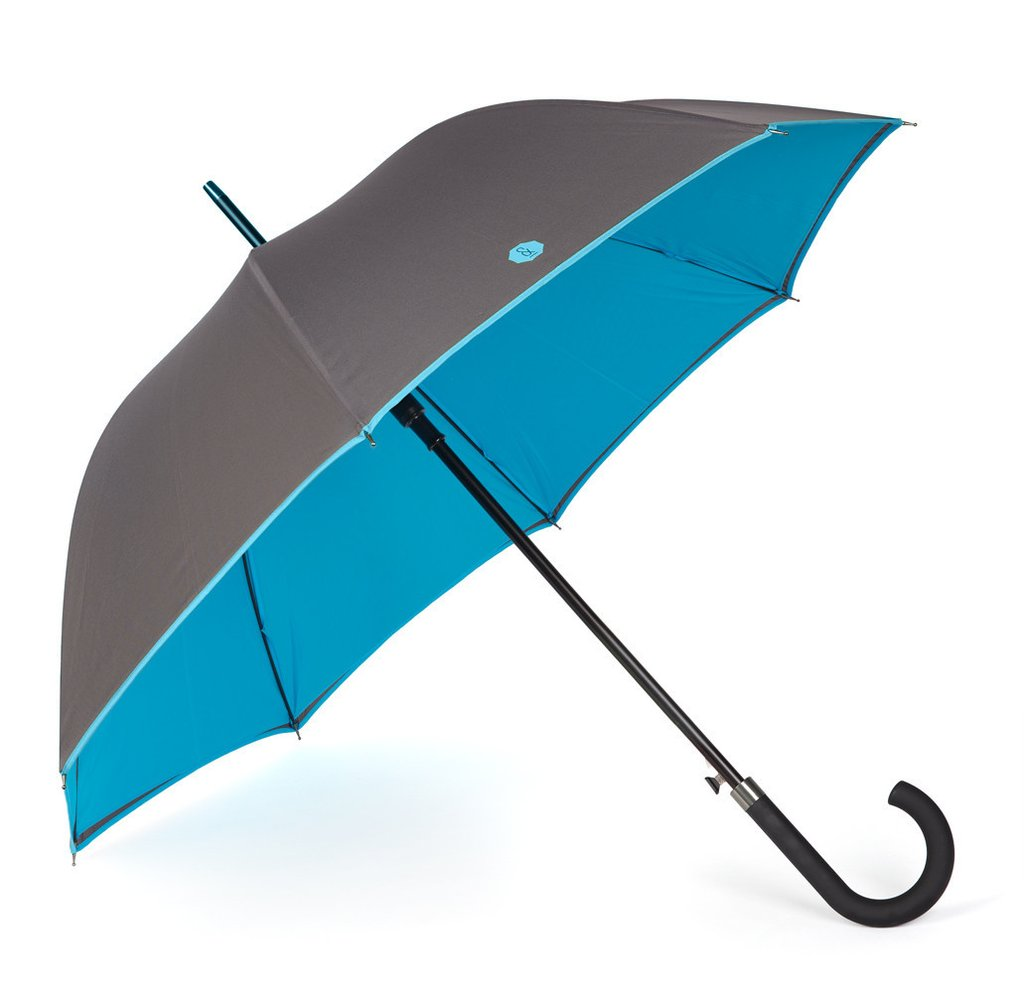 Banvard and James Walker Umbrella in Charcoal / Blue