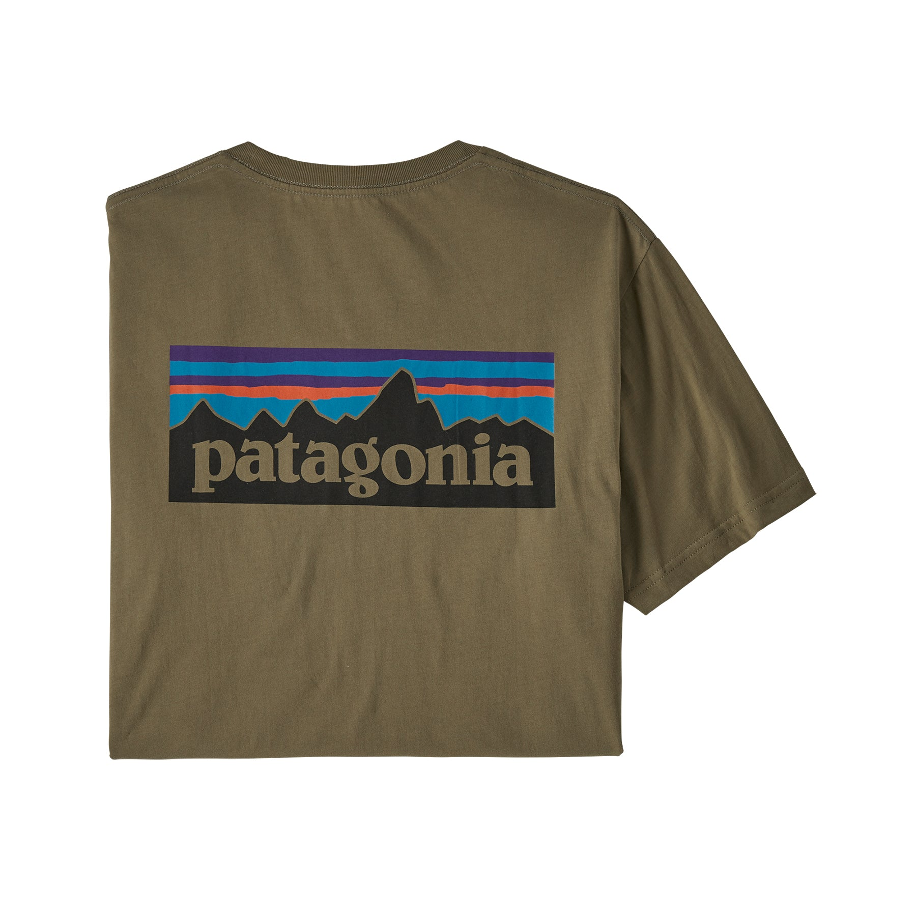 Patagonia P-6 Organic T-Shirt for Men in Sage Khaki