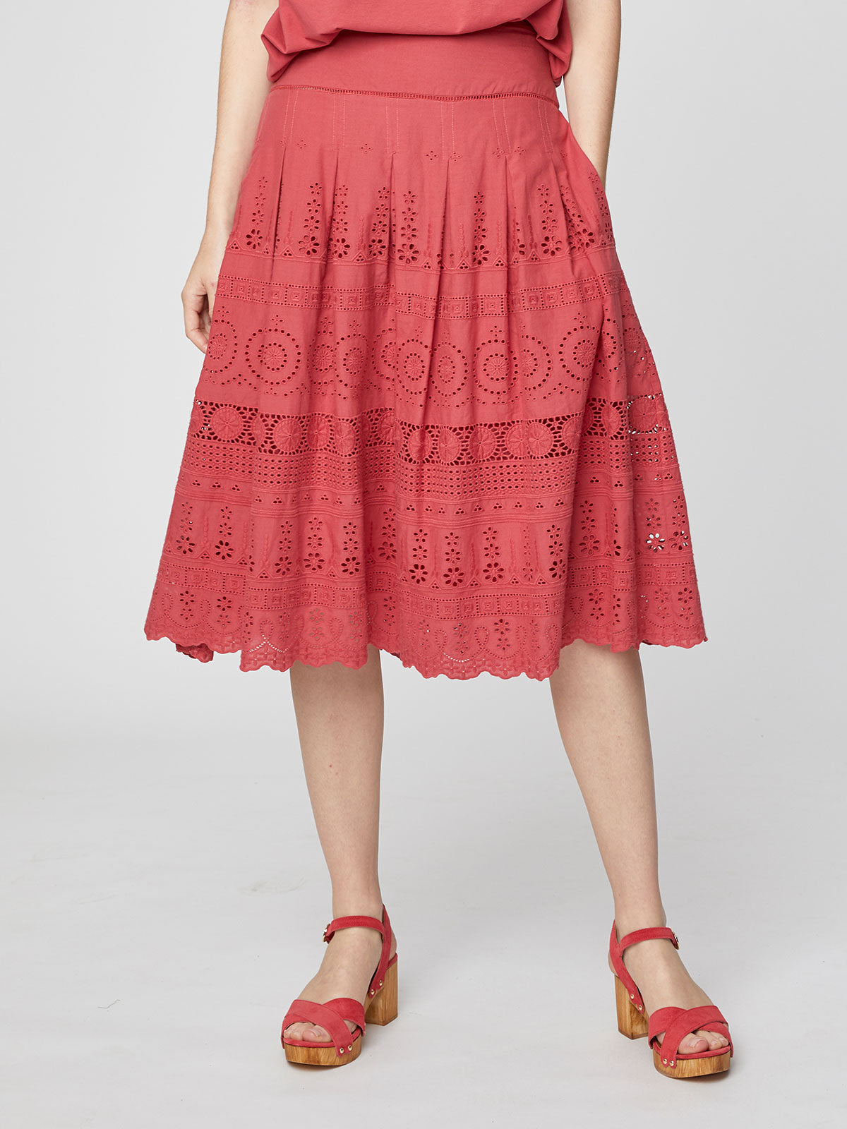 Thought Briony Skirt for Ladies in Hibiscus Red
