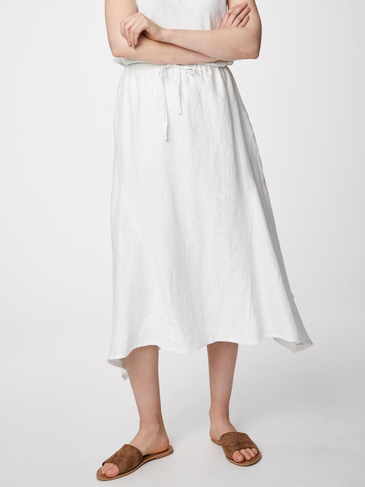 Thought Ellena Skirt for Ladies in White