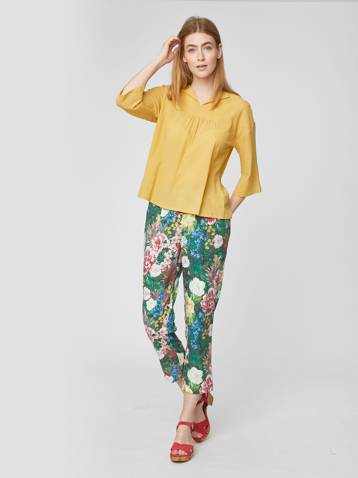 Thought Georgette Top for Ladies in Mimosa Yellow