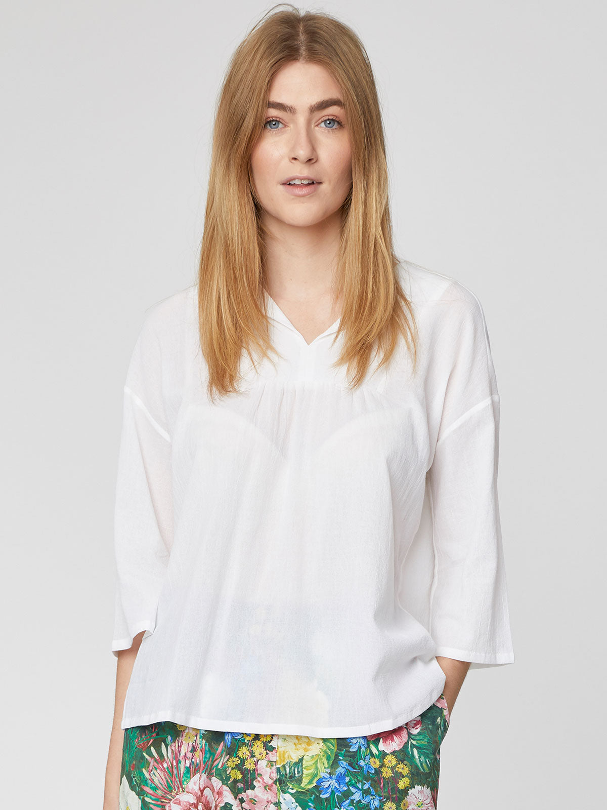 Thought Georgette Top for Ladies in White