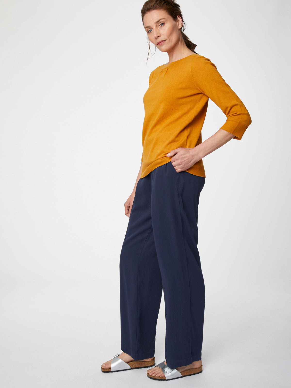 Thought Lula Jumper for Ladies in Saffron
