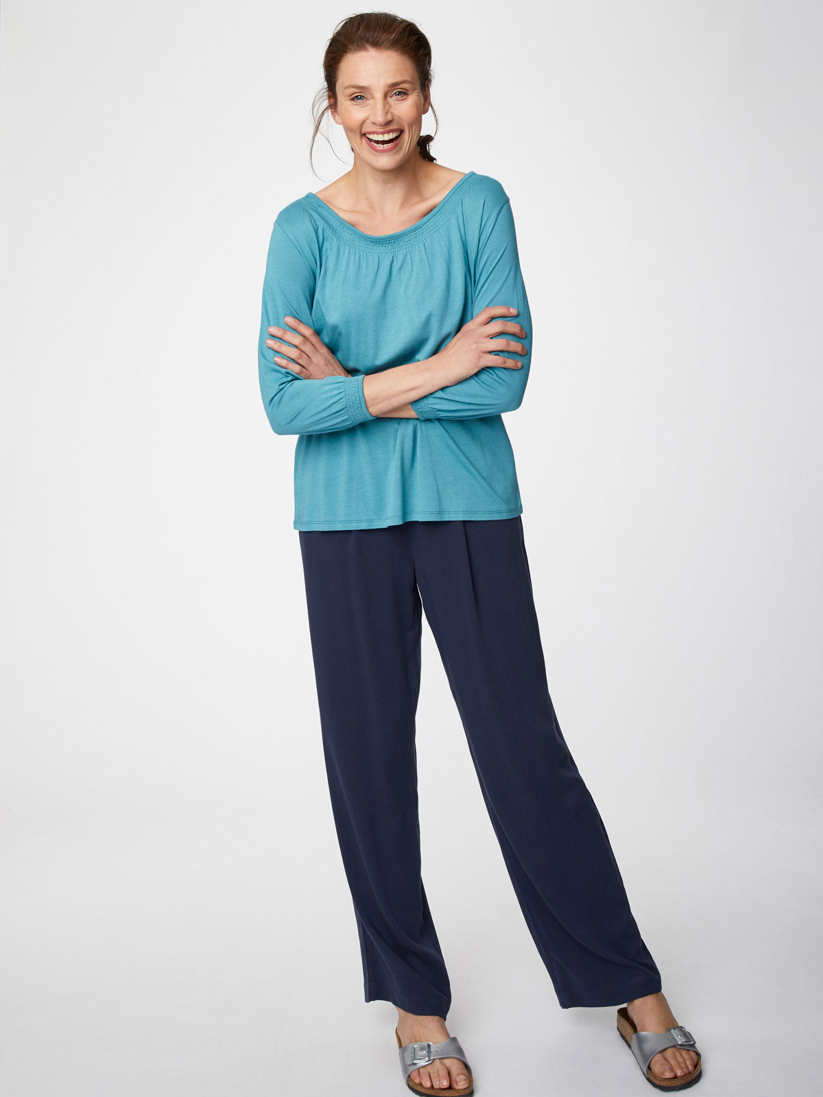 Thought Susanna Top for Ladies in Adriatic Blue