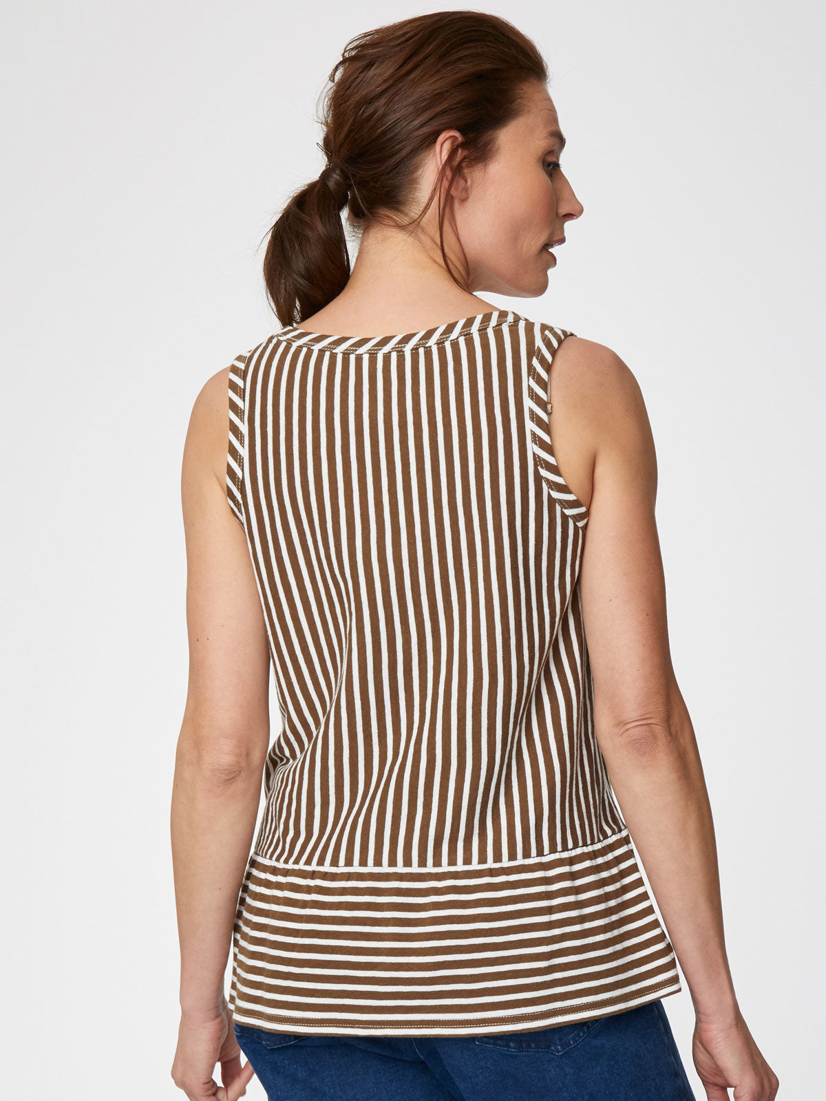 Thought Simonia Vest Top for Ladies in Desert Brown