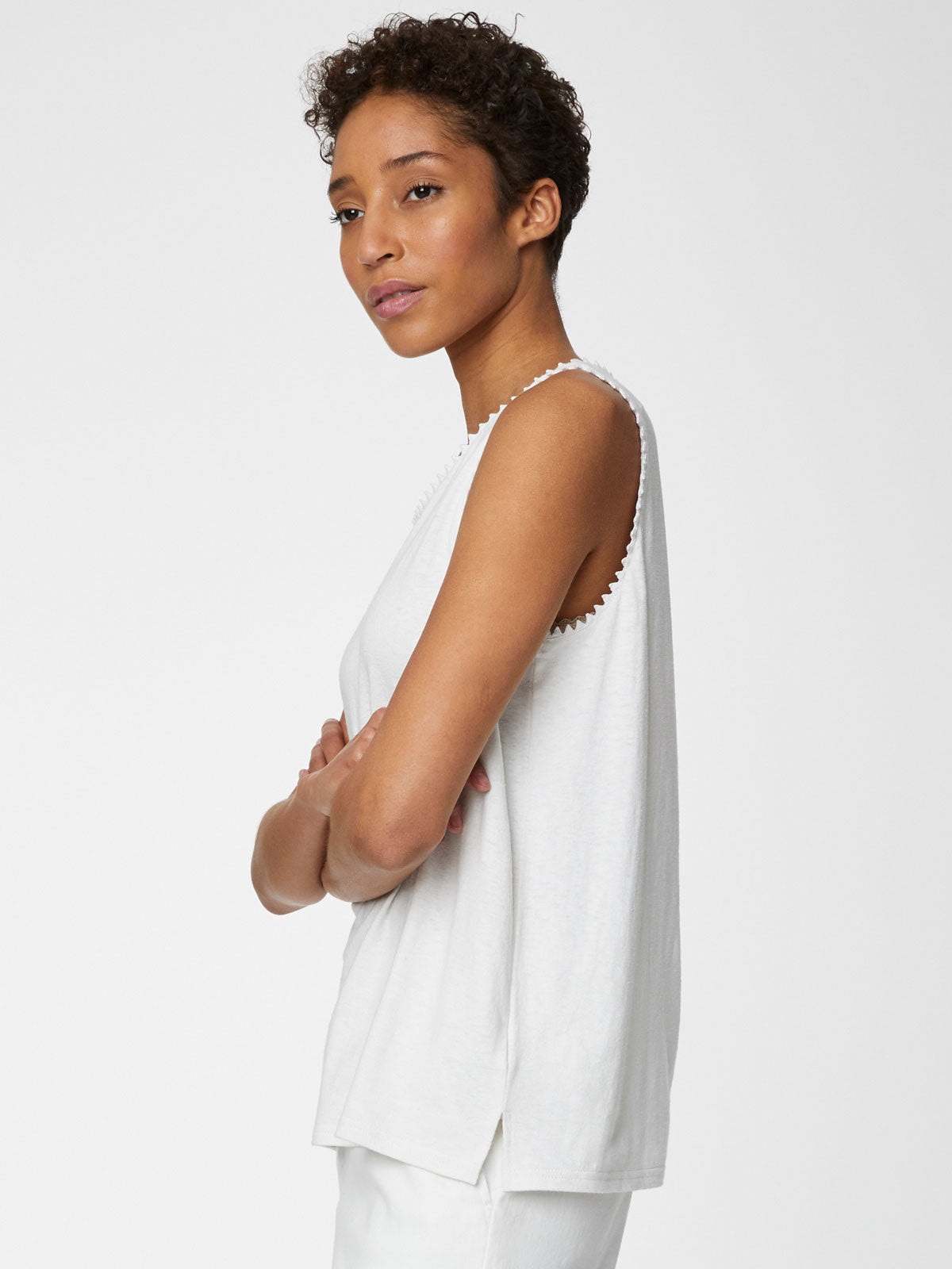 Thought Betta Vest Top for Ladies in White