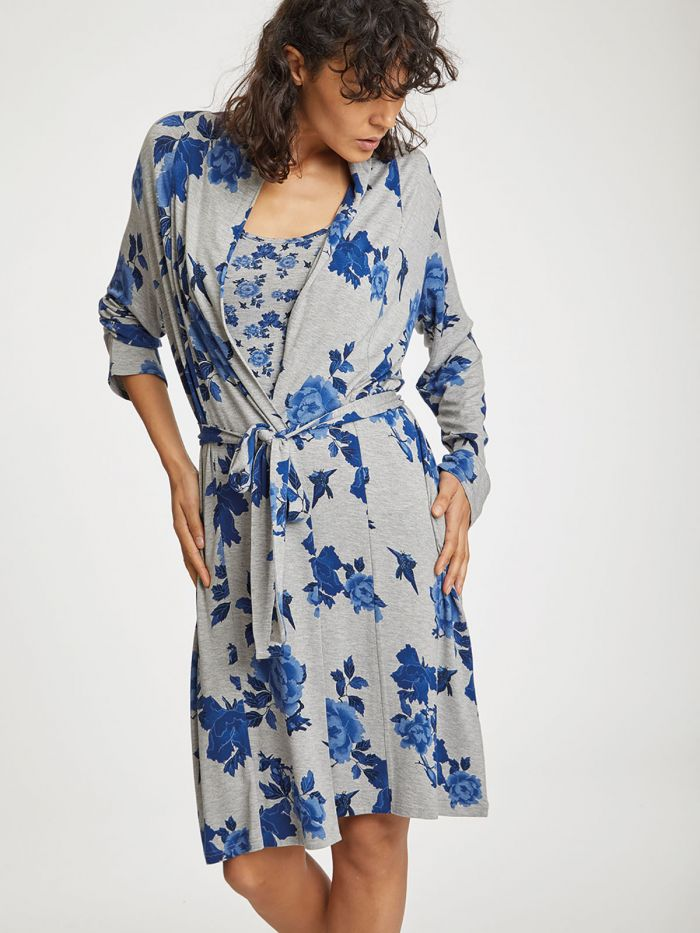 Thought Reanna Bamboo Robe for Ladies in Grey Marle