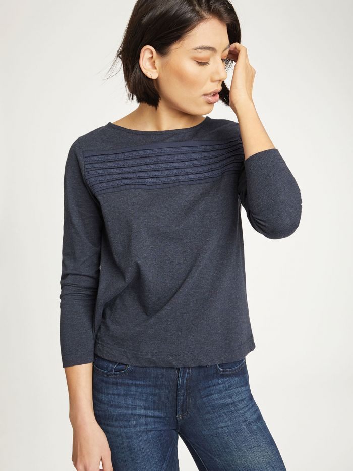 Thought Margit Top for Ladies in Navy