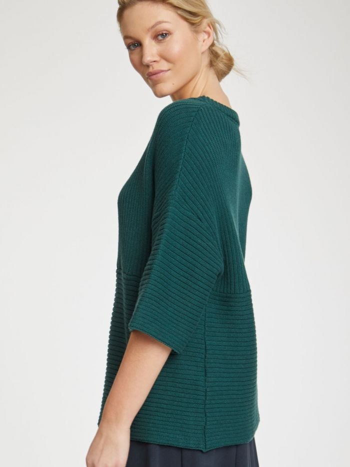 Thought Runa Cotton Wool Jumper for Ladies in Deep Teal