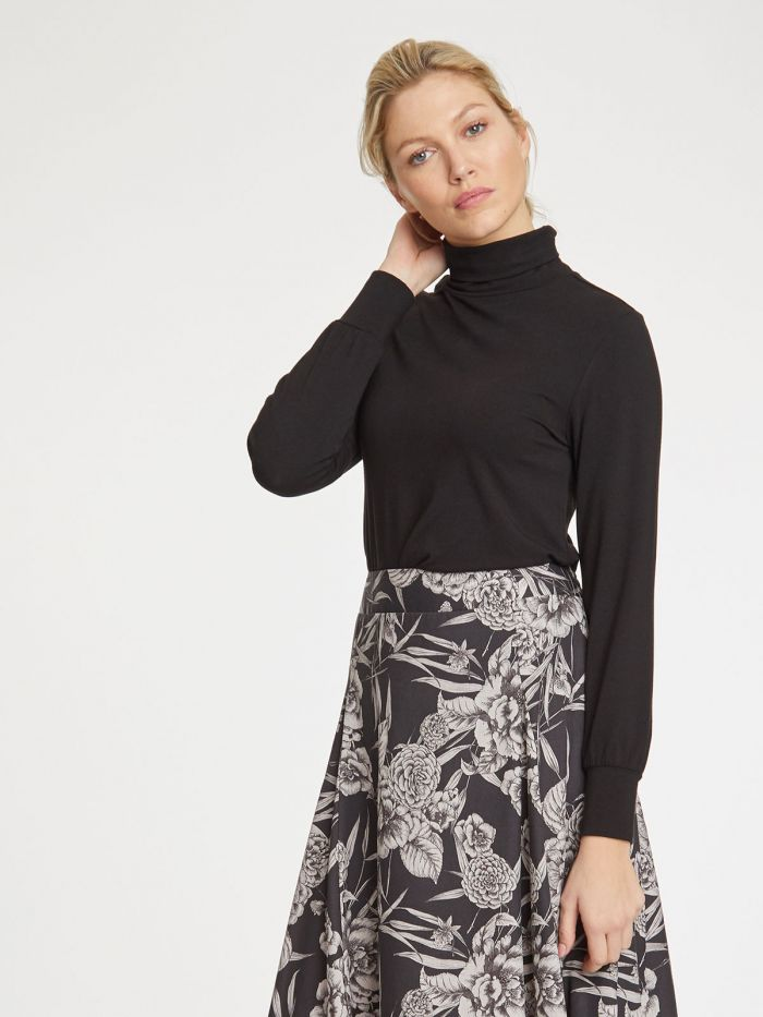 Thought Alvilda Roll Neck Top for Ladies in Black