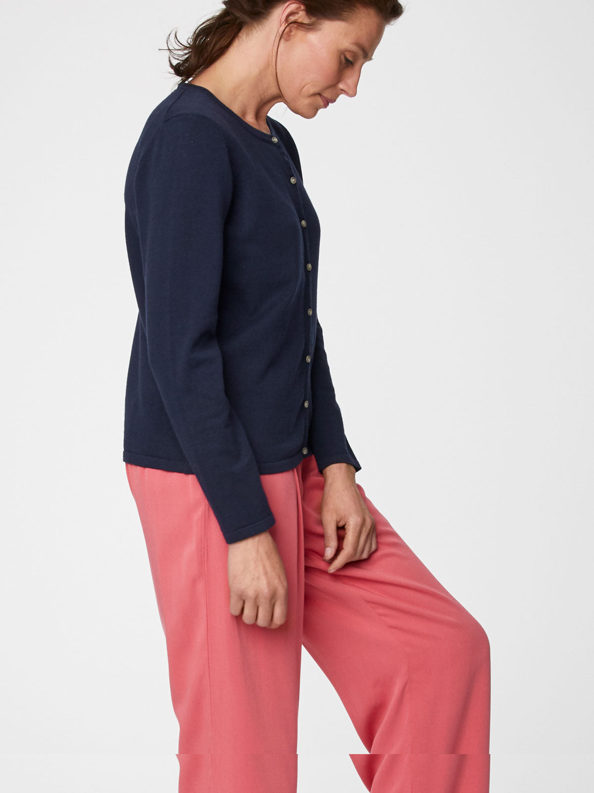 Thought Bodil Cardigan for Ladies in Navy