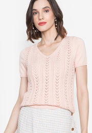 V-neck Knitted Top