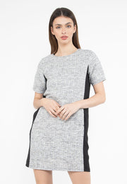 Plain Tweed with Side Lining Dress