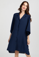 Loose Fit Button Down Shirt Dress