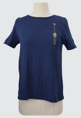 Shirt with Giraffe Embroidery