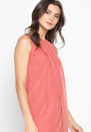 Plain Pleated Corporate Shift Dress