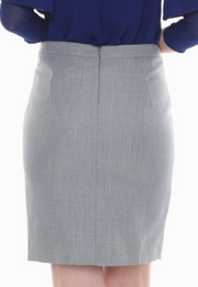 Pencil Cut Skirt with Zipper Opening Pleats