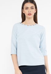 Cut-Out Neckline Top