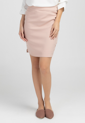 Pencil Skirt with Buttoned Side Hem