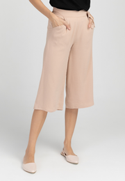 Flowy Culottes with Faux Side-Tie Detail