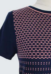 Multiple Pattern Print Knit Top