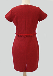 Corporate Dress with Square Neckline
