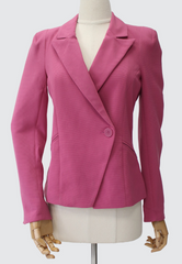 Asymmetrical Flap One-Button Blazer