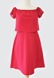 A-Line Dress with Gartered Neckline