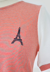 Knit Top with Eiffel Tower Embroidery
