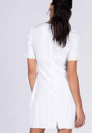 Plain Sheath Dress with Origami Style Belt loop