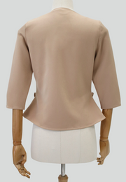 Pleated Peplum Cropped Jacket
