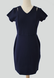 Corporate Dress with Shoulder Slit Detail