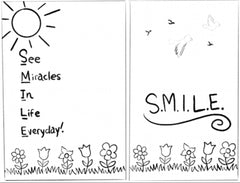 Illustration #2 found in the Journal on pages 29 and 30. SMILE - See Miracles In Life Everyday!