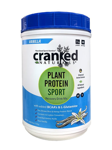 Cranked Naturals- Plant Protein w/ BCAA + GLutamine - 50 servings