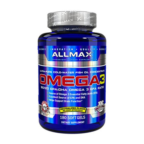 AllMax- Omega 3 - Fish Oil - 180 Soft Gels
