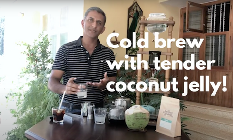 cold brew with tender coconut